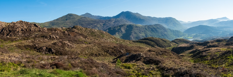 Views across central Snowdonia