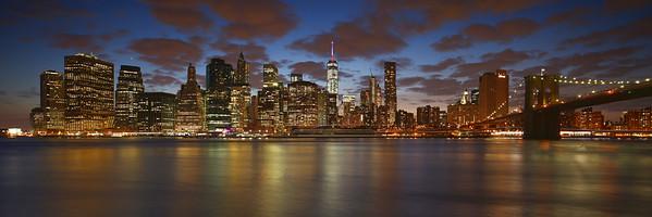 Manhattan Skyline at the Blue Hour