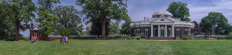 Panorama at Thomas Jefferson's Monticello, Charlottesville, Virginia