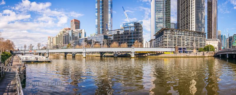 Sandridge Bridge to Queens Bridge Panorama