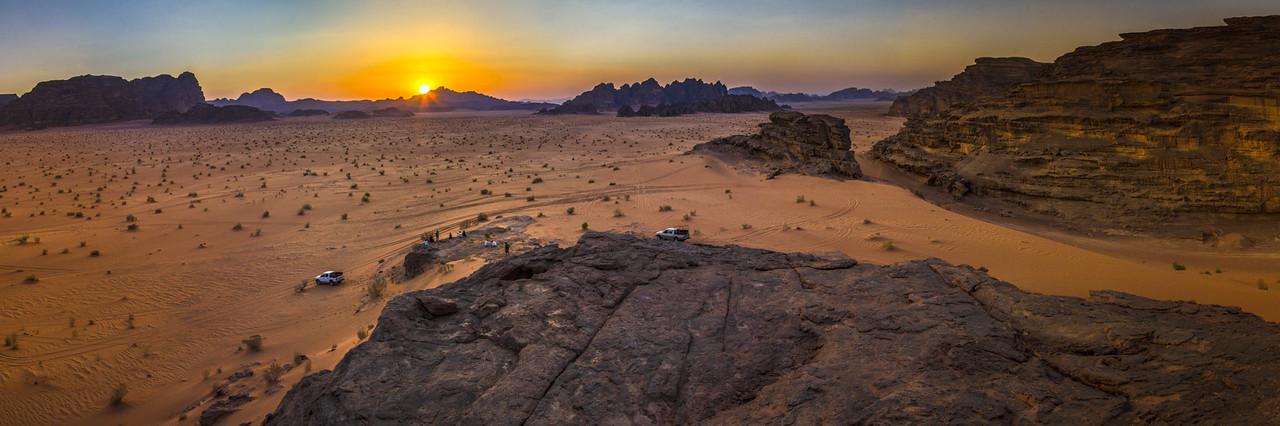 Wadi Rum At Sunset, Jordan