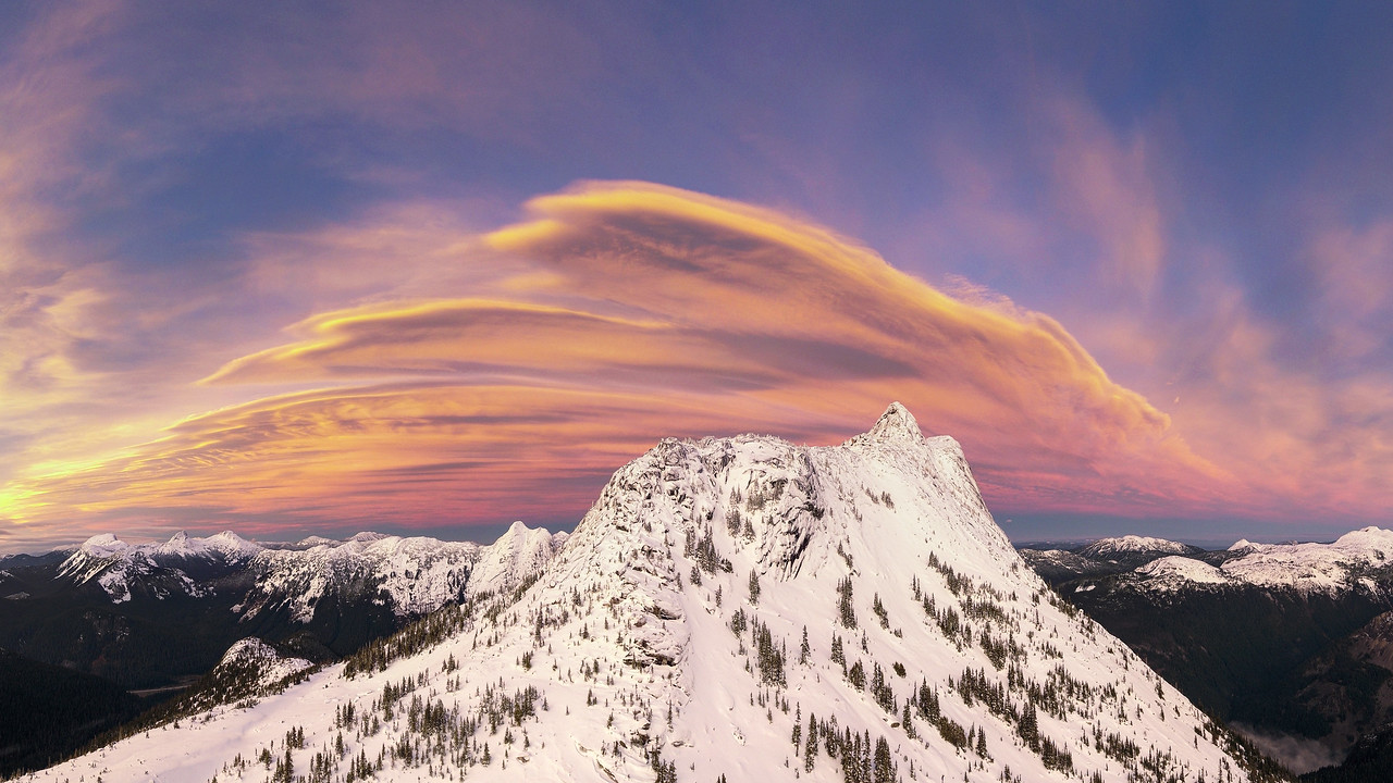 Sunset Over Needle Peak