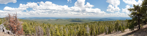 View out from rim of Newberry Crater, Central Oregon