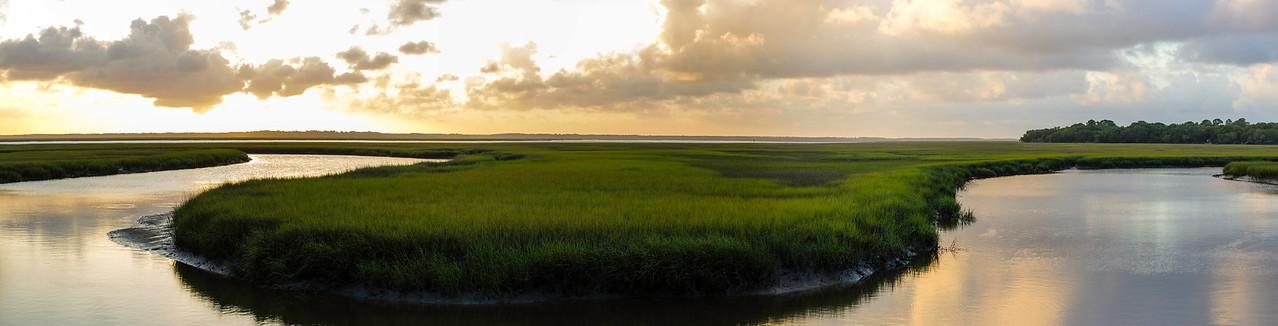 Sunset over the marsh