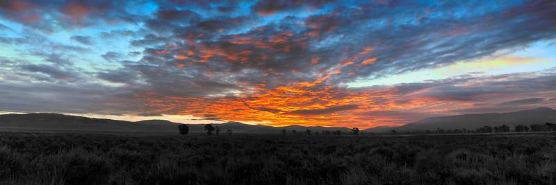 Sunrise in Gros Ventre, Grand Teton National Park, Wyoming