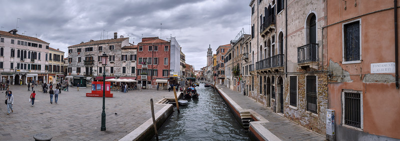 Panorama near Fondamenta Alberti in the Dorsoduro part of Venice, Italy