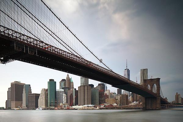 Brooklyn Bridge and Downtown Manhattan, Golden Hour