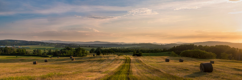 Hay Field at Dusk