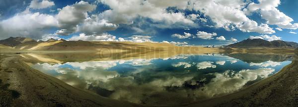 P15:180 degrees view of Tso Kiagar lake, Ladakh