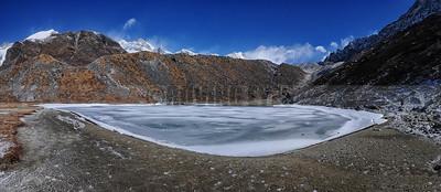 P7:Frozen Samiti lake(4200Mtrs) on the way to Goecha la, West Sikkim