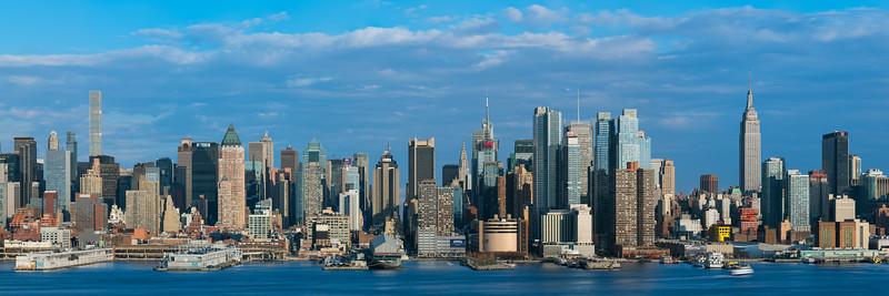 West Side of Manhattan from Weehawken, NJ - Golden Hour