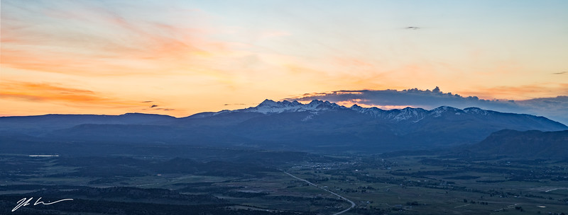 Sunrise from Mancos Valley Overlook, Mesa Verde National Park