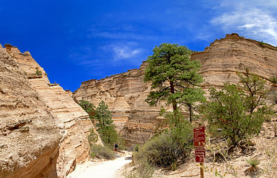 Trail in Tent Rocks Nat'l Monument. Near Santa Fe, NM.