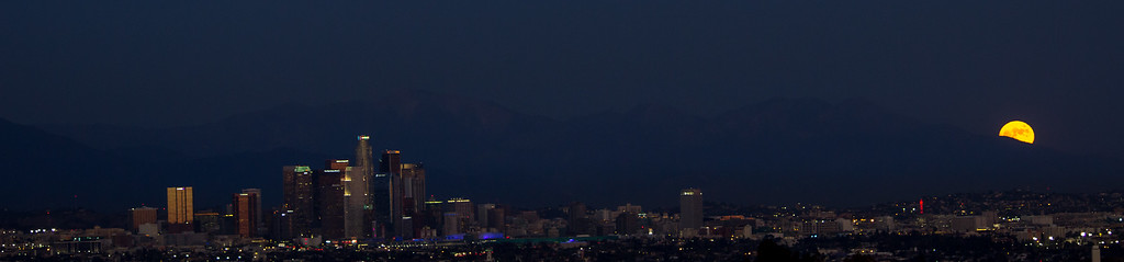 Moon Over Downtown LA
