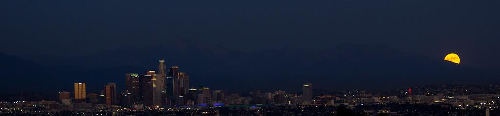 Moon Over Downtown LA