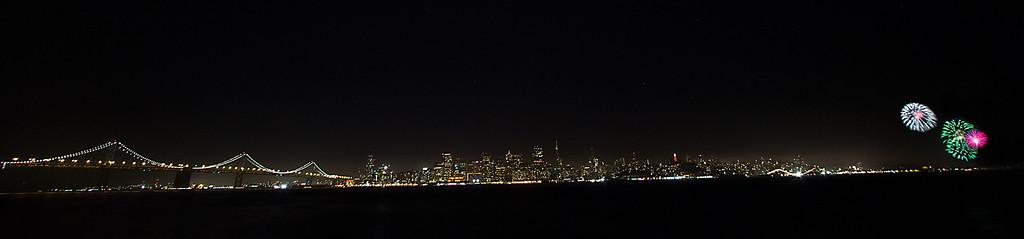 Fireworks Over San Francisco Skyline