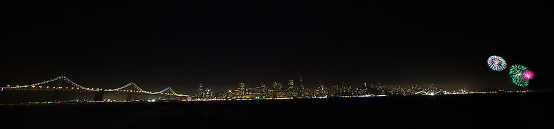 Fireworks Over San Francisco Skyline