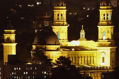 University of San Francisco (far right corner of panorama), 4 miles away.