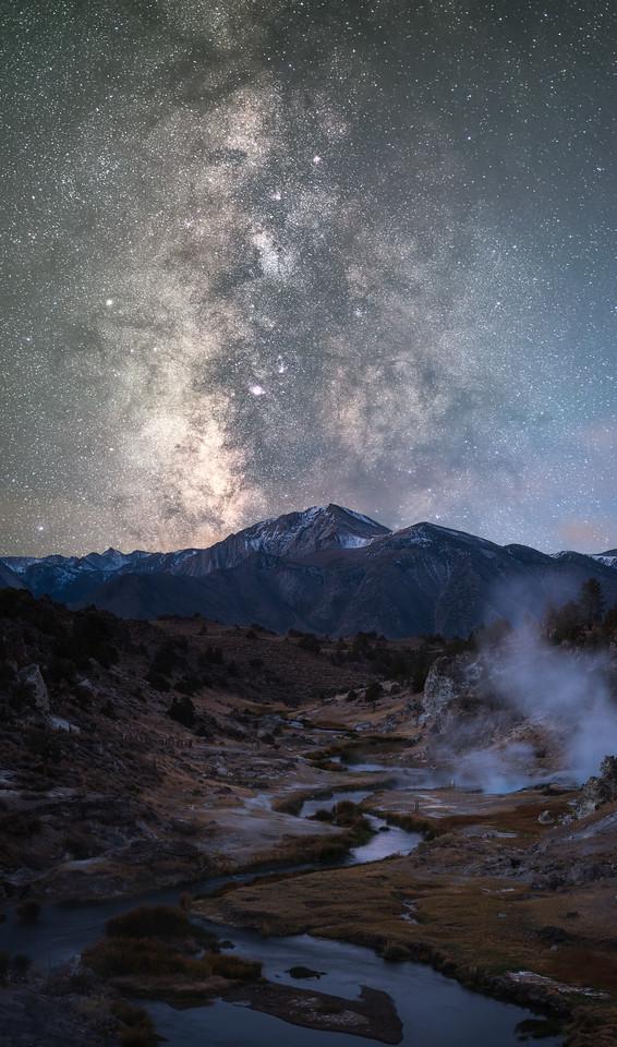 Hot Creek Milky Way Pano, Mammoth Lakes