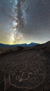 Petroglyphs under the Milky Way, Eastern Sierras