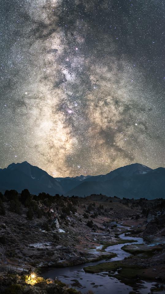 Selfie under the Milky Way from Hot Creek