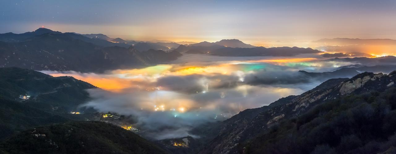 Malibu foggy panorama