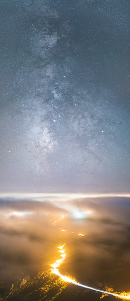Milky Way panorama from Santa Monica Mountains