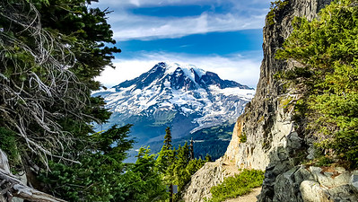 """Mount Rainier from Pinnacle Peak"""