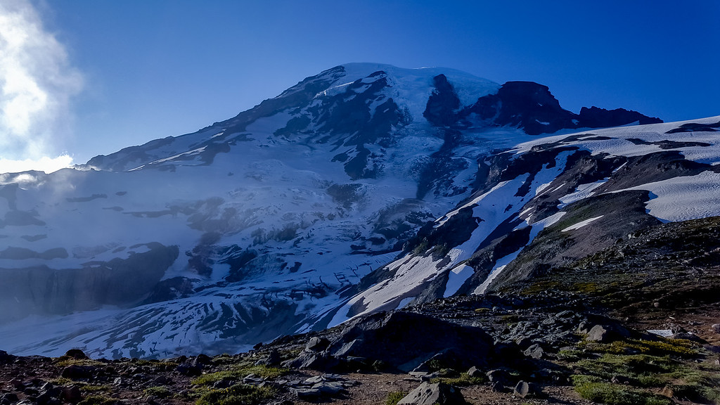 """Mount Rainier from 7040-Foot Level"""