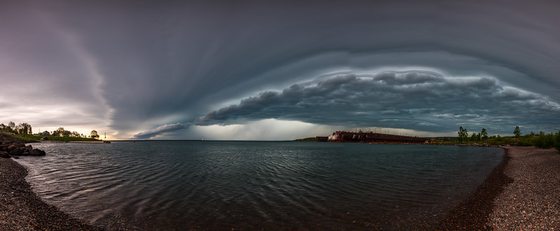 Agate Bay Storm Pano