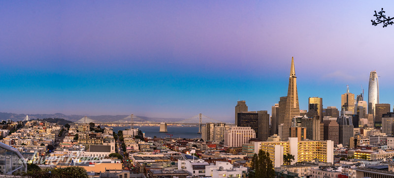 Sunset over the City of San Francisco