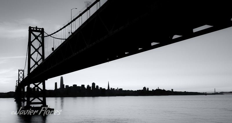 Black and White Silhouette of San Francisco skyline