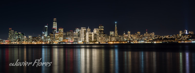 San Francisco skyline reflections on the bay