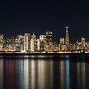 San Francisco skyline reflections on the bay