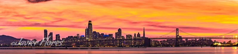 Golden Sunset Over San Francisco