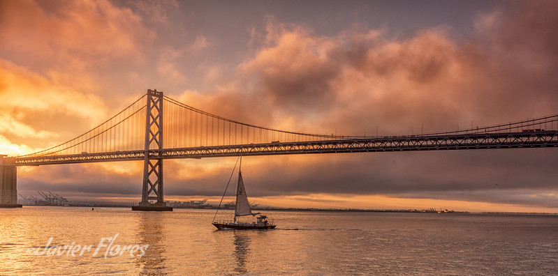 Sunrise sailing in the San Francisco Bay