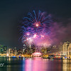 San Francisco Skyline with fireworks