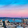 Sunset over San Francisco skyline