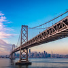 Panoramic of the Bay Bridge at Sunrise