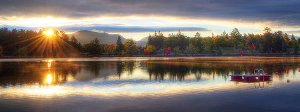Mirror Lake Sunrise Panoramic