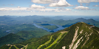 Whiteface and Lake Placid aerial 1