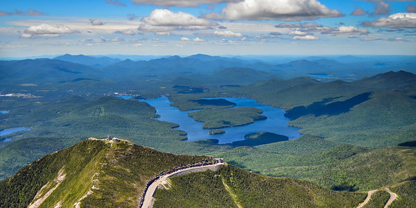 Whiteface and Lake Placid aerial 2