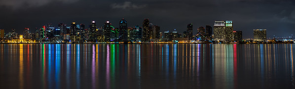 San Diego skyline viewed from Harbor Island Park.