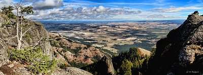 Elgin Valley from Indian Rocks, Oregon