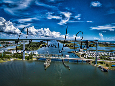 Topsail Island Swing Bridge Aerial Photo