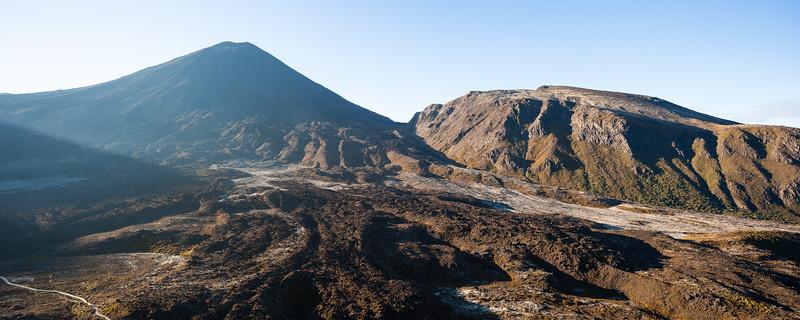 Mount Ngauruhoe and Pukekaikiore, Mangatepopo Valley, Tongariro National Park