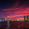 Downtown Miami Sunset Panoramic