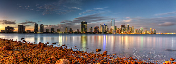 Miami Downtown Brickell Skyline