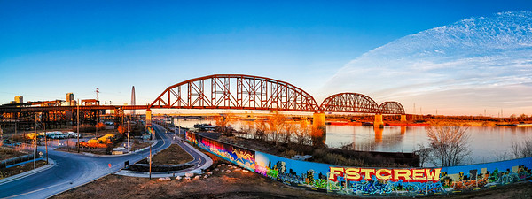 MacArthur Bridge and Graffiti Wall