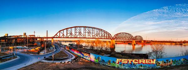 MacArthur Bridge and Graffiti Wall
